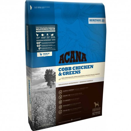 Acana Dog Heritage Cobb Chicken & Greens 11,4 Kg per Cane