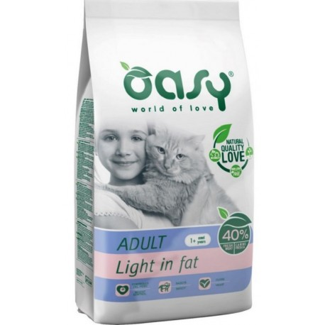 Oasy Dry Cat Light in Fat Alimento secco per gatti 1,5 Kg