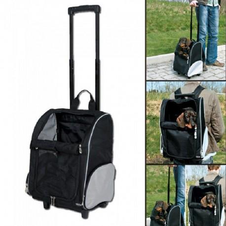 Trixie Trolley Zaino Nero/Grigio per cane fino 8 kg ART.2880