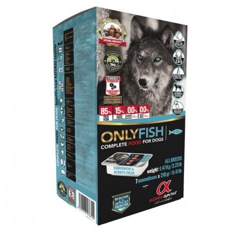 Alpha Spirit Only Fish 5,67 Kg Alimento Pesce Semi Umido per Cane