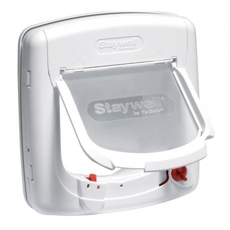 Staywell Deluxe 300 Gattaiola Porta Basculante 4 vie per Gatti 7Kg Bianca