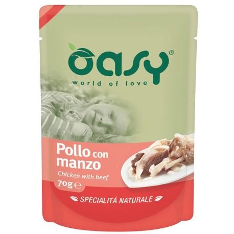 Oasy Specialità Naturale Busta al Pollo con manzo 70 gr