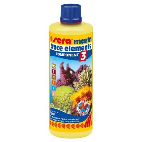 Sera Marin Component 3 Trace Elements Anionics 250 ml per Acquario Marino
