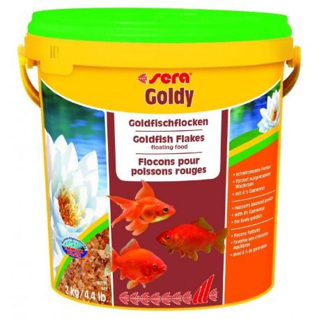 Sera Goldy 10 Lt 2kg Mangime in Scaglie per Pesci Rossi Acquario