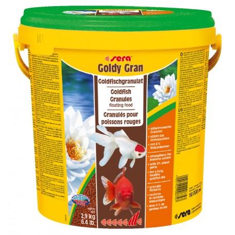 Sera Goldy Gran 10 lt 2,9Kg Mangime in Granuli per Pesci Rossi Acquario