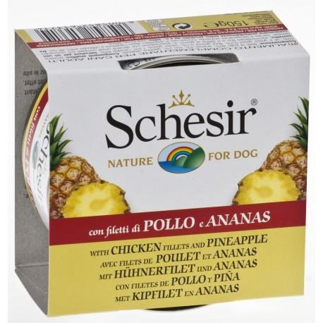 Schesir Dog Fruit Pollo con Ananas 150 gr Umido per Cane