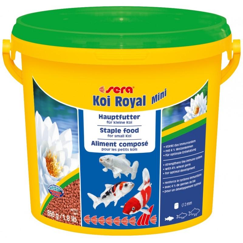 Sera koi royal mini 3800 ml for Mangime carpe koi