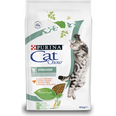 Purina Tonus Cat Chow Sterilised 10 kg Croccantini per gatto