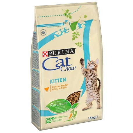 Purina Tonus Cat Chow Kitten 1,5 kg Croccantini per gatto