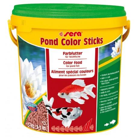 Sera Pond Color Sticks 10 Litri Mangime per Pesci nel Laghetto