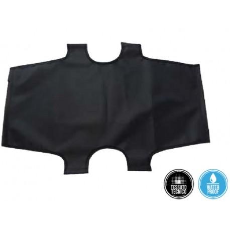 Telo di ricambio nero per brandina pieghevole 75 x 115 cm