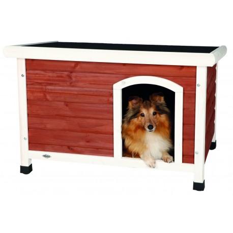 Cuccia Trixie Natura per Cani con Tetto Piatto Colore Rosso - Bianco Taglia S-M Cod. 39555