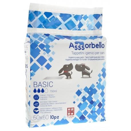 Fuss Dog 10 Tappetini Igienici assorbenti Assorbello per cane 60x60 traverse per cuccioli