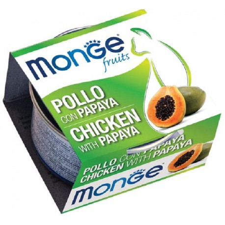 Monge Fruits Pollo con Papaya 80 gr