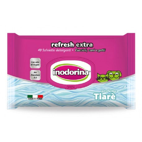 Inodorina Refresh Extra Salviette Igieniche profumo Tiarè 40 pz