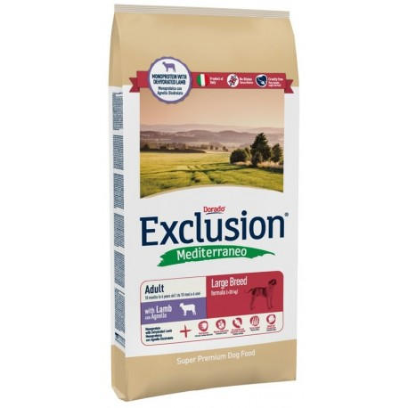Exclusion Mediterraneo Adult Large Agnello 12,5 kg
