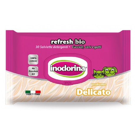 Inodorina Refresh Bio - 30 Salviette Delicato
