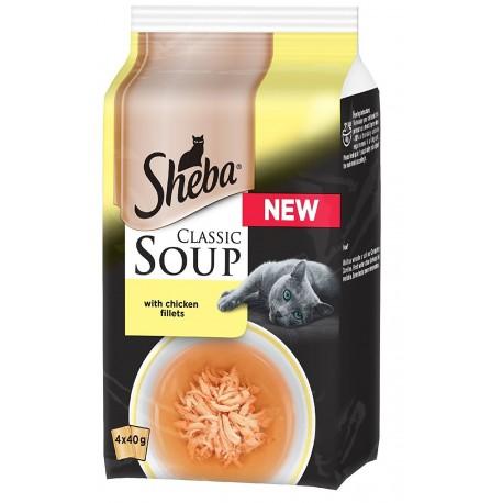Sheba Soup con Filetti di Pollo 4 x 40 gr