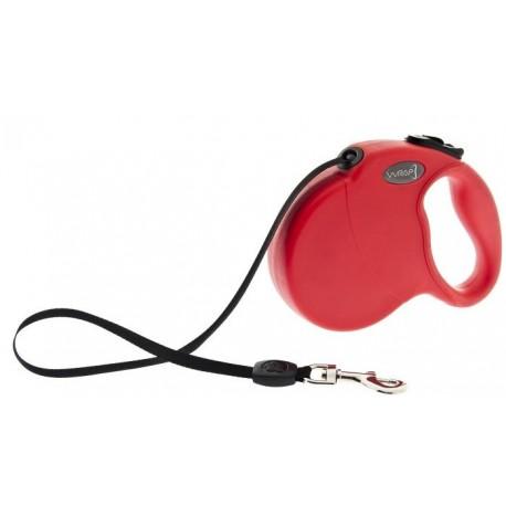 Wrap Guinzaglio Avvolgibile Rosso Taglia L per Cane fino ai 50 Kg