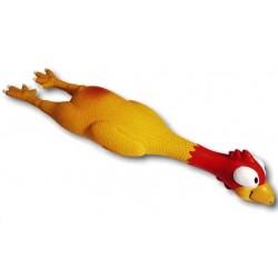 Pollo con Occhioni Sonoro cm 25 Gioco per Cane