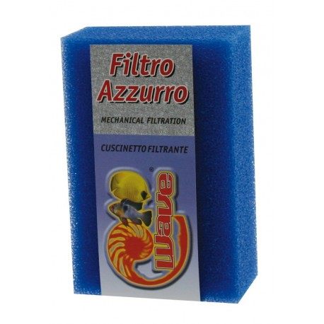 Wave Spugna Filtro Azzurro 18x12x6cm Porosità Media per Acquario
