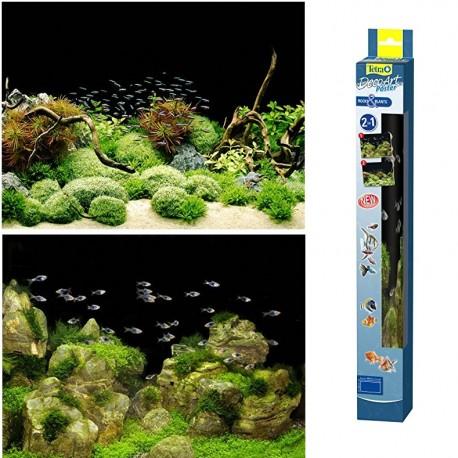 Tetra DecoArt Sfondo per Acquario 60 x 45 cm Rocks & Plants