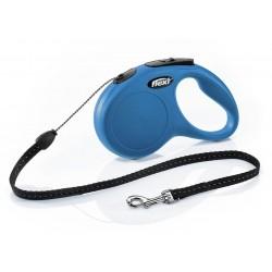 Flexi Guinzaglio con Corda Avvolgibile S Blu per Cane fino a 12 Kg