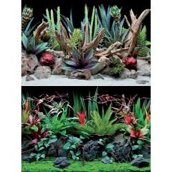 Flora 45 x 100 cm Sfondo Poster Doppio per Acquario