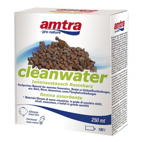 Amtra Cleanwater 250 ml Elimina NO2 NO3 NH4 per Acquario