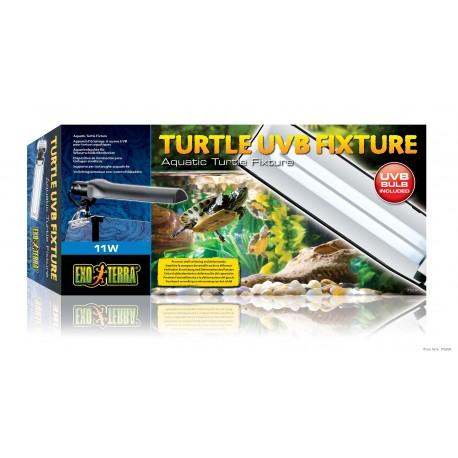 Exo Terra Turtle uvb fixture 11 watt plafoniera per tartarughe acquatiche