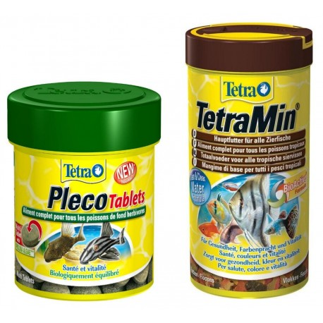 Tetra Set Tetramin 250ml + Tetra Pleco Tablets 120cp