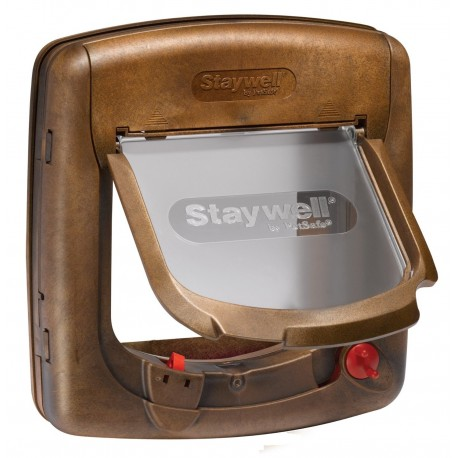 PetSafe Staywell Deluxe 420 Porta Basculante magnetica Marrone
