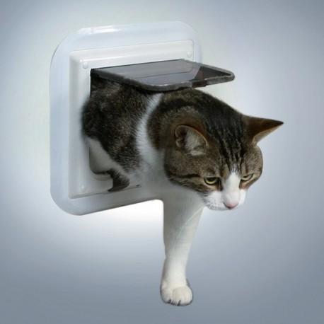 TRIXIE Porta basculante bianca per vetro a 4 funzioni per gatti cod. 38631