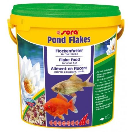 Sera Pond Flakes 10 Litri 1,7Kg Mangime in fiocchi per pesci laghetto