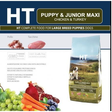 HT Dog Puppy e Junior Maxi Pollo e tacchino 12,5 kg Crocchette per Cani