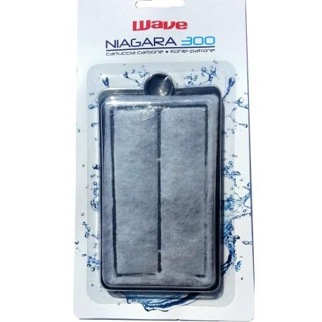 Wave Ricambio cartuccia Carbone filtro Niagara 300 per acquario