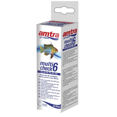 Amtra Multicheck Test 6in1 per acquario GH-PH-KH-NO2-NO3