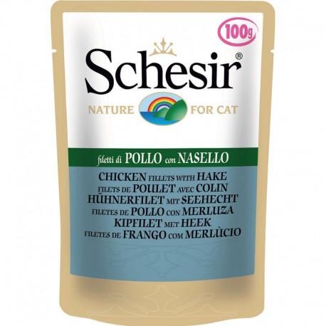 Schesir Cat Buste Soft Jelly Pollo con Nasello 100 gr