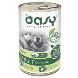 Oasy One Protein Adult Coniglio Patè Monoproteico Lattina 400 g per Cane
