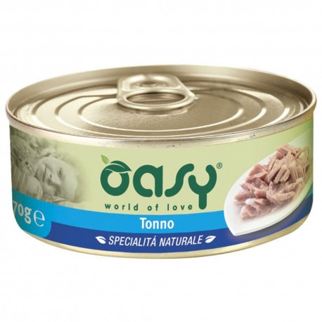 Oasy Wet Cat al Naturale Tonno per gatti 70 gr - 2 lattine