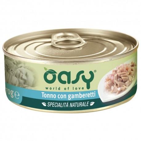 Oasy Wet Cat al Naturale Tonno con Gamberetti 70 gr