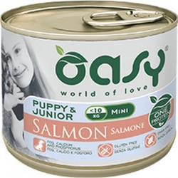 Oasy Wet Dog One Protein Puppy Mini Monoproteico Salmone 200 gr