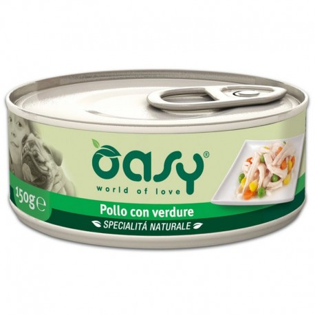 Oasy Wet Dog Pollo con Verdure Lattina 150 gr