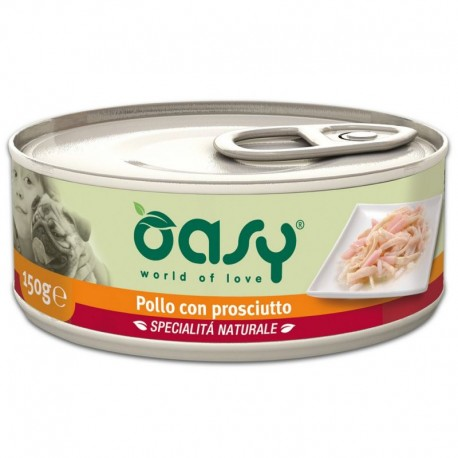 Oasy Wet Dog Pollo con Prosciutto Lattina 150 gr