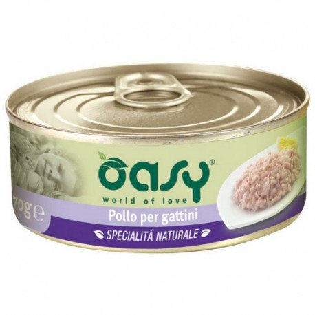 Oasy Wet Cat al Naturale Pollo per gattini 70 gr