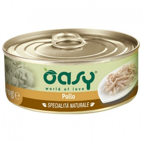 Oasy Wet Cat al Naturale Pollo per gatti 70 gr - 2 lattine