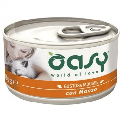 Oasy Wet Cat Mousse Manzo 85 gr