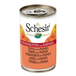 Schesir Cat Tonnetto e Papaya 140 gr cibo umido per gatti adulti