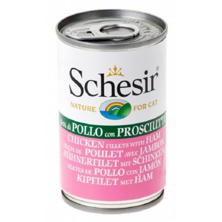 Schesir Cat Pollo e Prosciutto 140 gr alimento umido per gatto