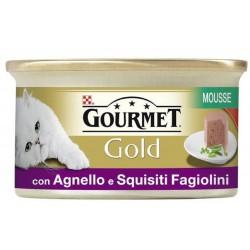 Gourmet Gold Mousse con verdure Agnello e Fagiolini 85 gr per Gatti